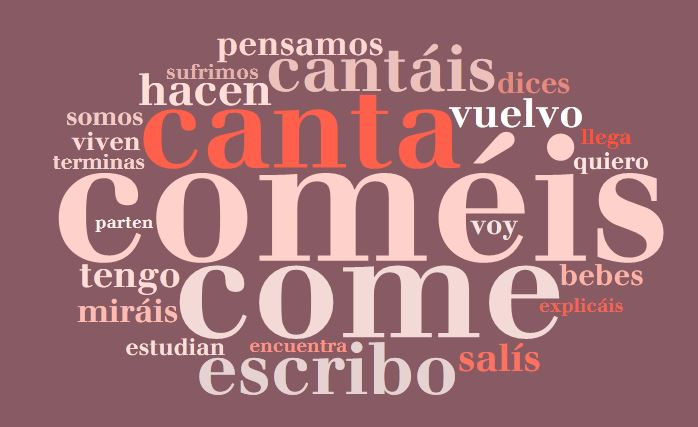 These verbs in present tense can be regular or irregular .