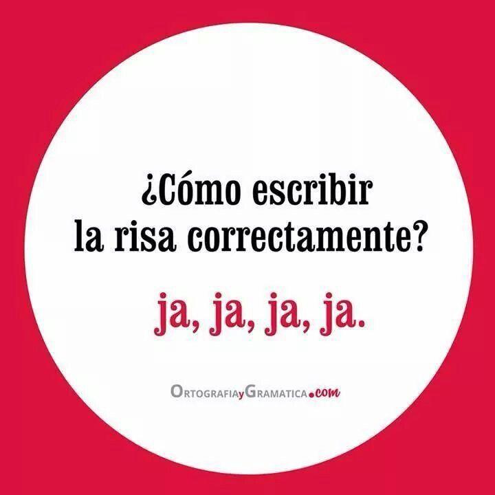 ¿Sabes cómo escribir la risa correctamente en español?