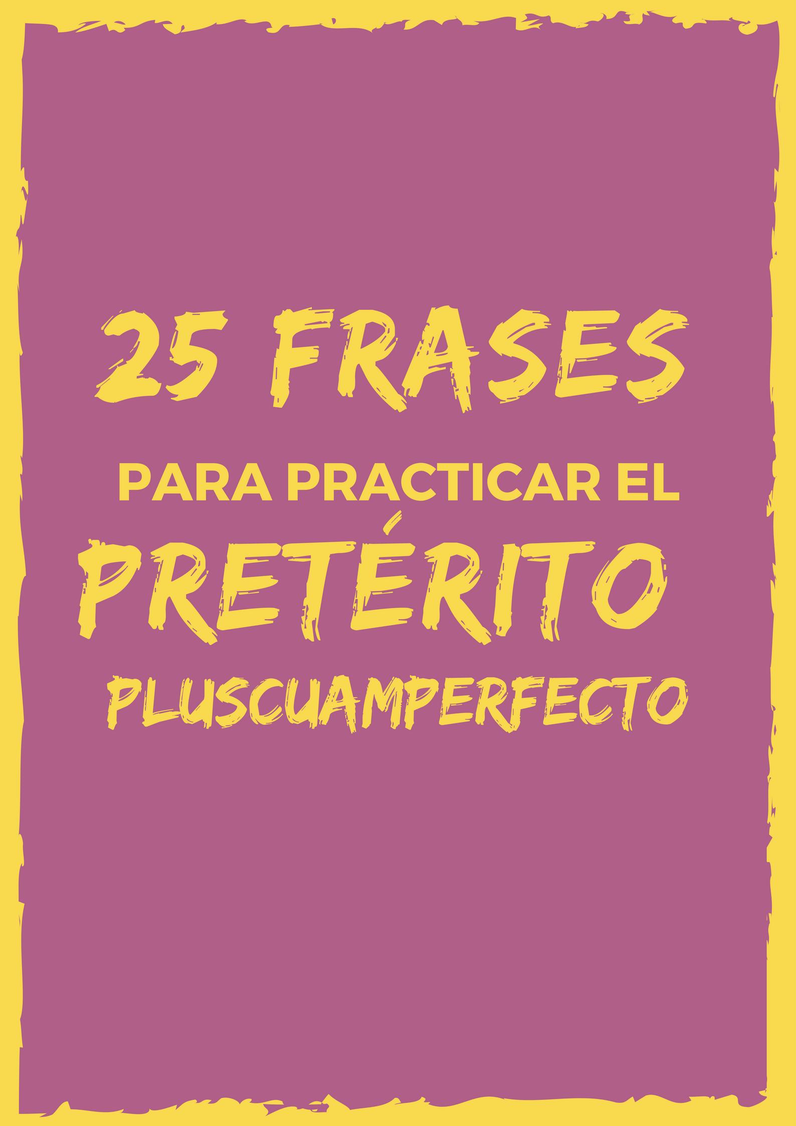 pasado indefinido en espagnol