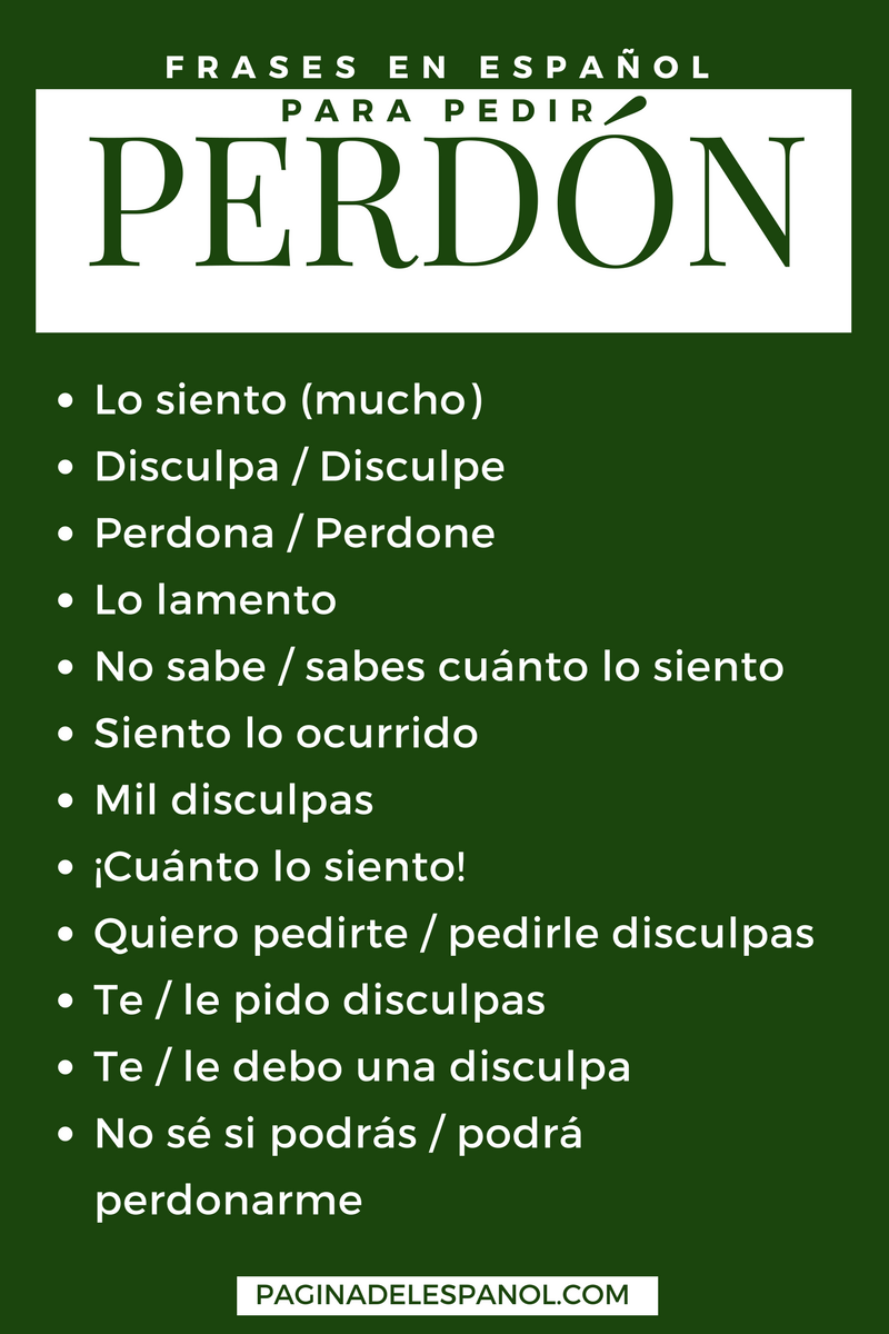 12 Frases En Espanol Para Pedir Perdon on Reading And Writing Numbers